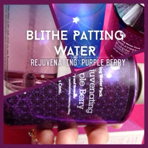 Blithe Patting Water Purple Rejuvenating Berry review! ♥