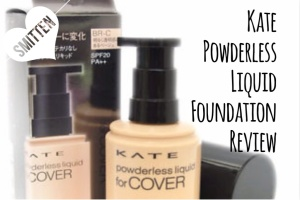 Kanebo Kate Powderless Liquid for Cover Foundation review